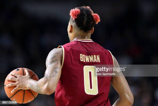 A general view of Boston College Eagles guard Ky Bowman hair during a college basketball game between Boston College Eagles and Providence Friars on...