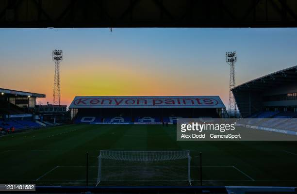 General view of Boundary Park, home of Oldham Athletic during the Sky Bet League Two match between Oldham Athletic and Bolton Wanderers at Boundary...