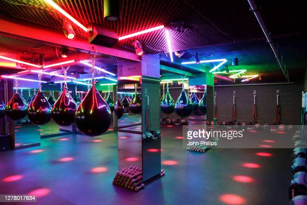 General view of boutique boxing club, KOBOX, at Various Locations on September 28, 2020 in London, England. KOBOX offers 50-minute combination...
