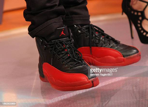A general view of Bow Wow's shoes during 106 Park at 106 Park studio on October 29 2013 in New York City