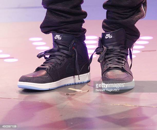 A general view of Bow Wow's shoes during 106 Park at BET studio on June 2 2014 in New York City