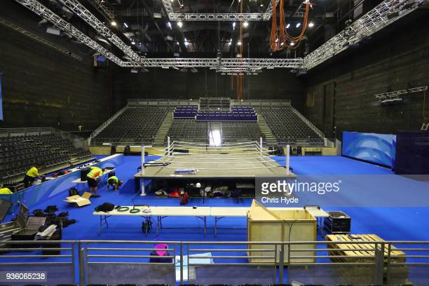 A general view of Boxing venue ahead of the 2018 Commonwealth Games at Oxenford Studios on March 22 2018 in Gold Coast Australia