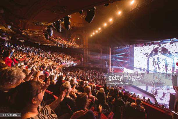 General view of Boyzone as they perform on stage at the London Palladium on October 21 2019 in London England