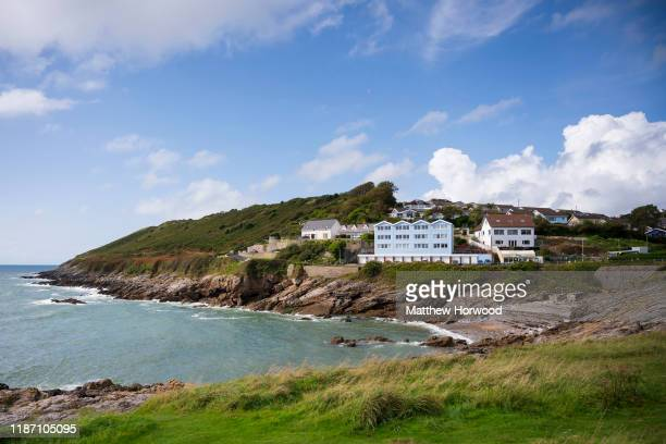 A general view of Bracelet Bay in Mumbles on September 22 2019 in Swansea United Kingdom
