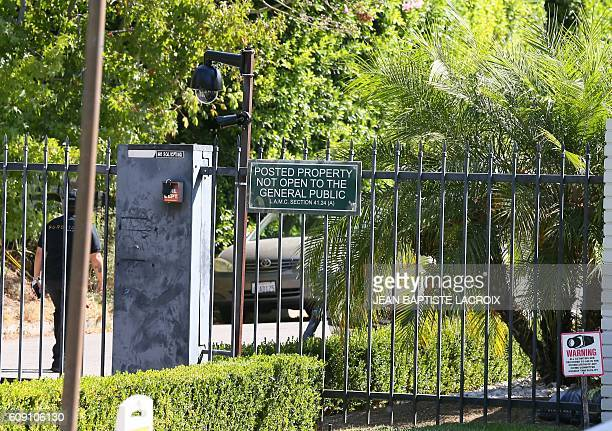A general view of Brad Pitt and Angelina JoliePitt's house is located in Los Feliz California on September 20 2016 Angelina Jolie has filed for...
