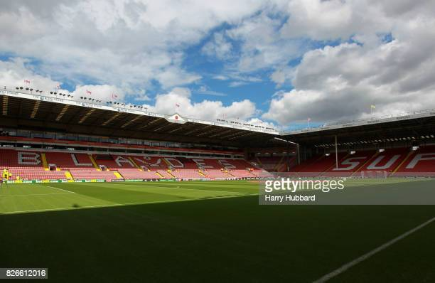 A general view of Bramall Lane before the Sky Bet Championship match between Sheffield United and Brentford at Bramall Lane on August 5 2017 in...