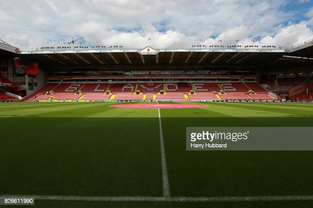 A general view of Bramall Lane beofre the Sky Bet Championship match between Sheffield United and Brentford at Bramall Lane on August 5 2017 in...