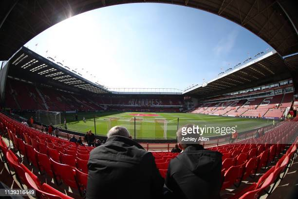 General View of Bramall Lane during the Sky Bet Championship match between Sheffield United and Bristol City at Bramall Lane on March 30, 2019 in...