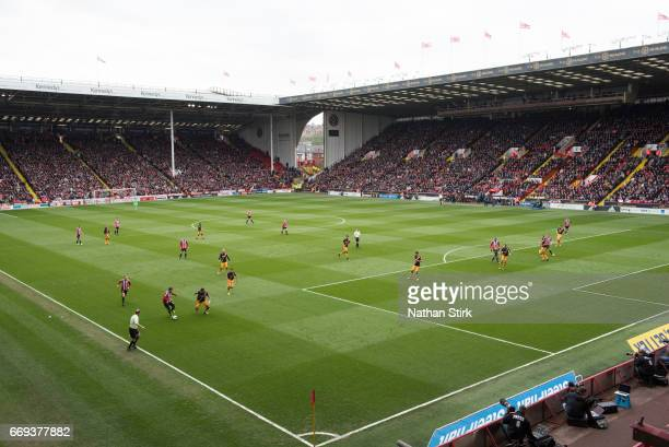 General view of Bramall Lane during the Sky Bet League One match between Sheffield United and Bradford City on April 17 2017 in Sheffield England