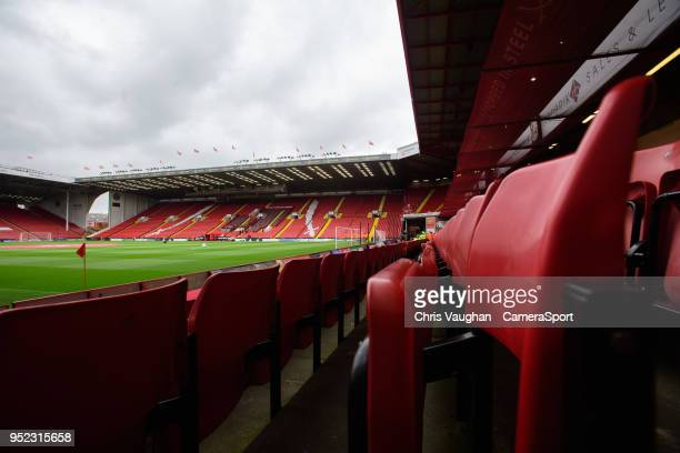 A general view of Bramall Lane home of Sheffield United prior to the Sky Bet Championship match between Sheffield United and Preston North End at...