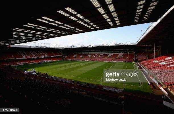 A general view of Bramall Lane Stadium on August 2 2013 in Sheffield England