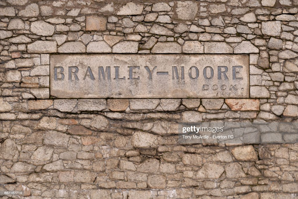 General Views of Bramley Moore Dock, Proposed Site of the New Everton Stadium : News Photo