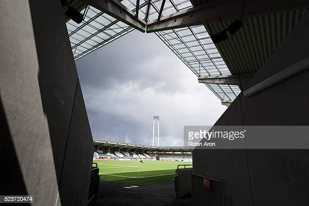 General view of Bravida Arena before the Allsvenskan match between BK Hacken and GIF Sundsvall at Bravida Arena on April 24 2016 in Gothenburg Sweden