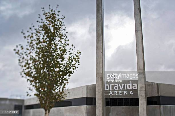 General view of Bravida Arena before the Allsvenskan match between BK Hacken and Kalmar FF at Bravida Arena on October 23 2016 in Gothenburg Sweden
