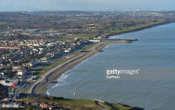 A general view of Bray beach and cost line from the Bray Head On Thursday February 15 Dublin Ireland