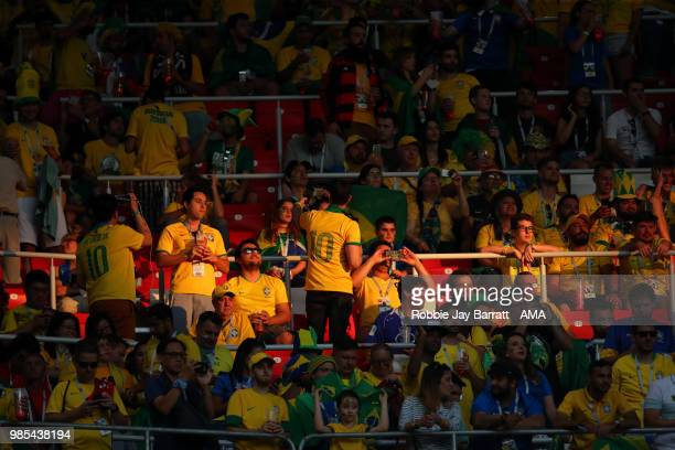 General View of Brazil fans prior to the 2018 FIFA World Cup Russia group E match between Serbia and Brazil at Spartak Stadium on June 27 2018 in...