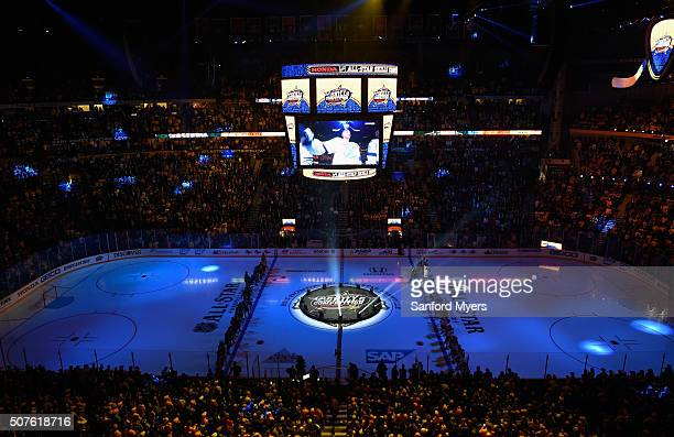 A general view of Bridgestone Arena prior to the 2016 Honda NHL AllStar Skill Competition on January 30 2016 in Nashville Tennessee