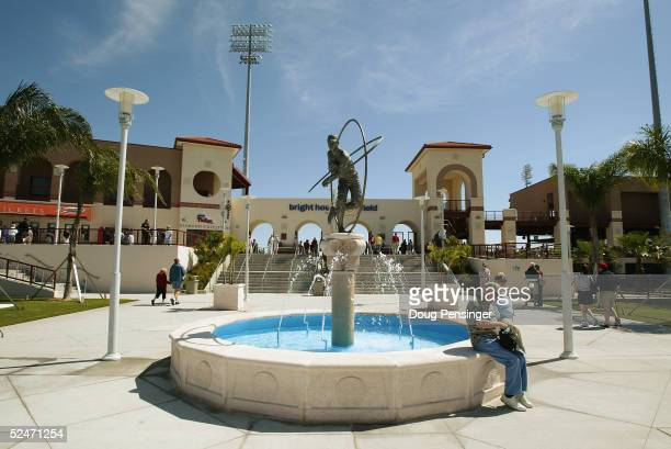 General view of Bright House Networks Field during the MLB Spring Training pre-season game between the Cleveland Indians and the Philadelphia...
