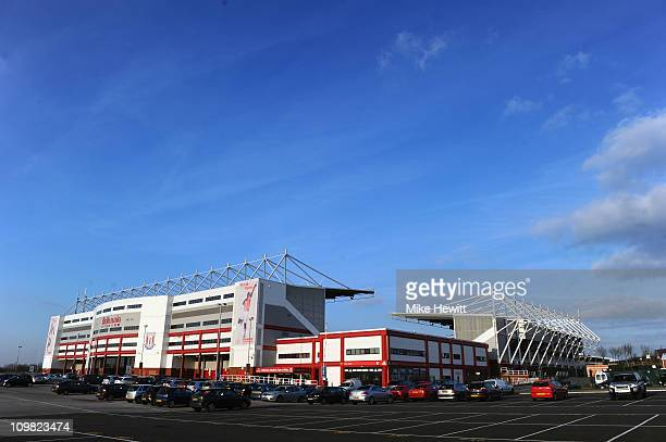 General View of Britannia Stadium home of Stoke City on March 1 2011 in StokeonTrent England