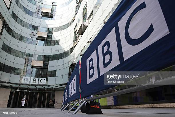 General view of Broadcasting House, the headquarters of the BBC on May 12, 2016 in London, England. A 'white paper' presented this morning by John...
