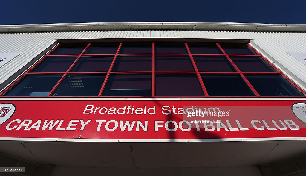 A general view of Broadfield Stadium ahead of the pre-season friendly between Crawley Town FC and Brighton & Hove Albion on July 24, 2013 in Crawley, West Sussex.