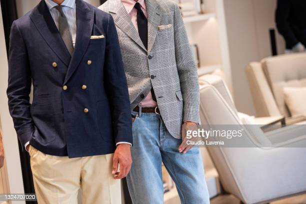 General view of Brunello Cucinelli SS22 Menswear Collection Presentation on June 19, 2021 in Milan, Italy.