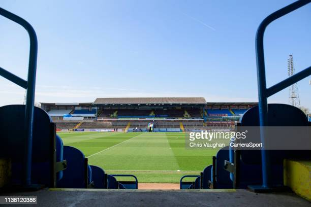 A general view of Brunton Park home of Carlisle United prior to the Sky Bet League Two match between Carlisle United and Lincoln City at Brunton Park...