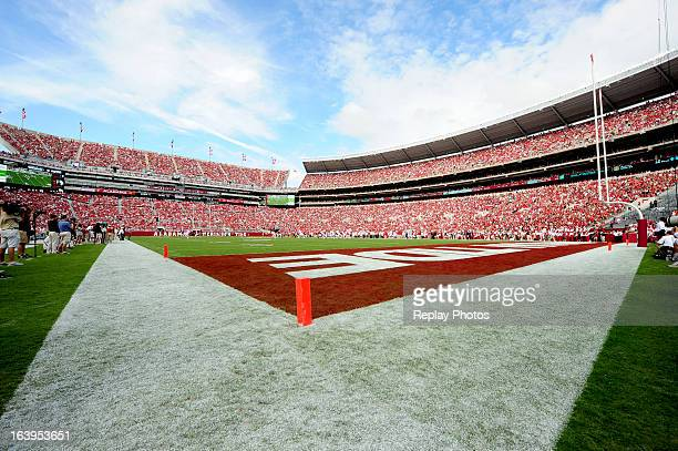A general view of BryantDenny Stadium during a game between the Western Kentucky Hilltoppers and the Alabama Crimson Tide on September 8 2012 in...