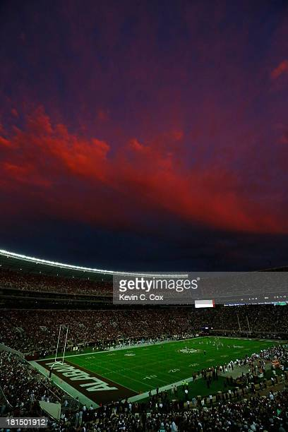 A general view of BryantDenny Stadium during the game between the Alabama Crimson Tide and the Colorado State Rams on September 21 2013 in Tuscaloosa...