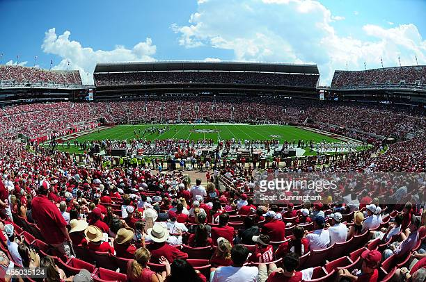 A general view of BryantDenny Stadium during the game between the Alabama Crimson Tide and the Florida Atlantc Owls on September 6 2014 in Tuscaloosa...