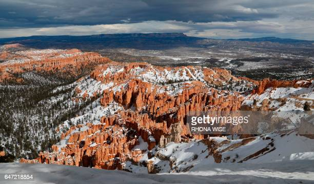 A general view of Bryce Canyon National Park Utah on February 10 2017 / AFP PHOTO / RHONA WISE