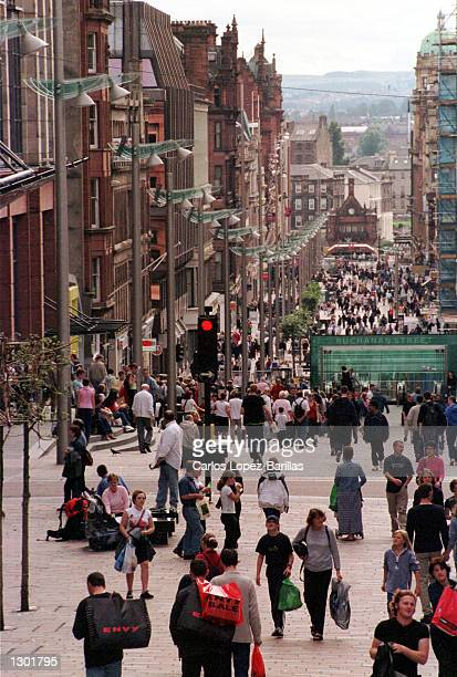 A general view of Buchanan street in the city centre of Glasgow Scotland September16 2000 Glasgow was named Eurpoean city of architecture in the year...