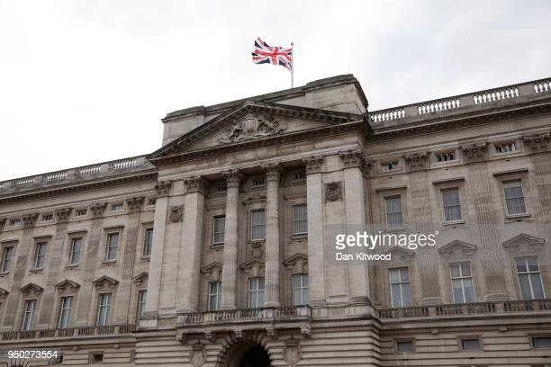 A general view of Buckingham Palace ahead of an official announcement that the Duchess of Cambridge has given birth to a baby boy at St Mary's...