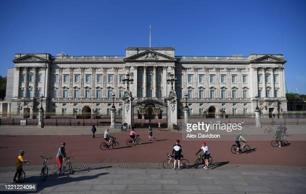 A general view of Buckingham Palace on April 26 2020 in LondonEngland The British government has extended the lockdown restrictions first introduced...