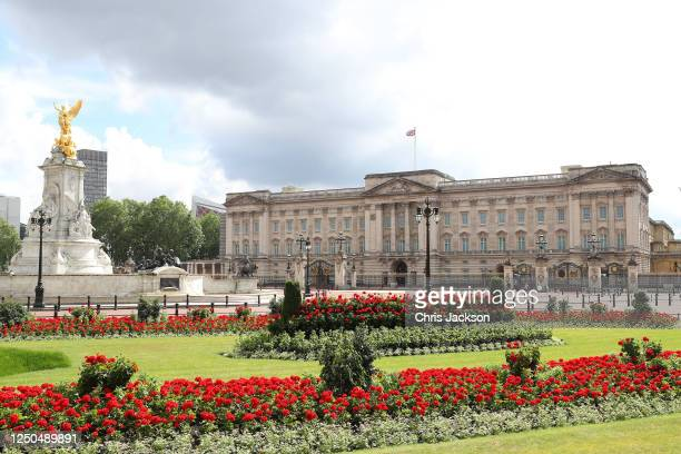 General view of Buckingham Palace on June 18, 2020 in London, England. L'Appel du 18 Juin was the speech made by Charles de Gaulle to the French in...