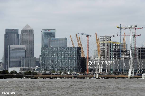 A general view of building development on the Isle of Dogs on April 12 2017 in London England