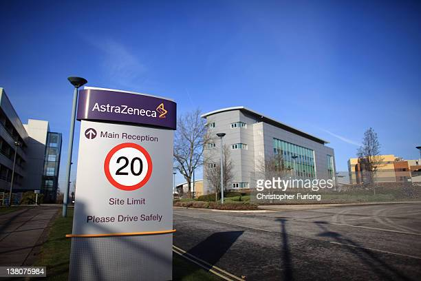 A general view of buildings and signage at the Macclesfield site of pharmaceutical company AstraZenica on February 2 2012 in Macclesfield England The...