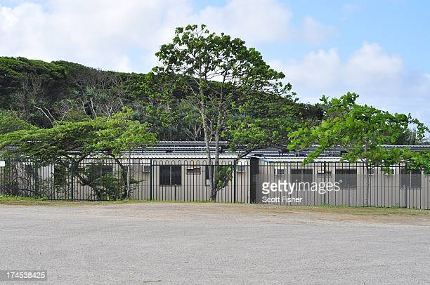 General view of buildings at Construction Camp Immigration Detention Centre located adjacent to Phosphate Hill Detention Centre on July 27 2013 in...