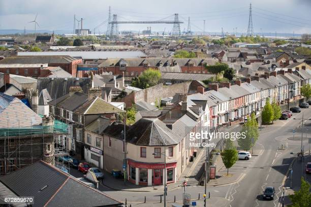 General view of buildings in the city centre on April 25, 2017 in Newport, Wales. The British Prime Minister Theresa May's visit to South Wales today...
