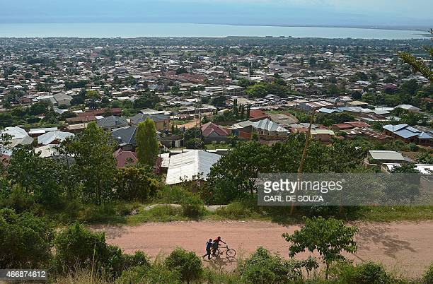 General view of Bujumbura by Lake Tanganyika on March 19 2015 AFP PHOTO / CARL DE SOUZA