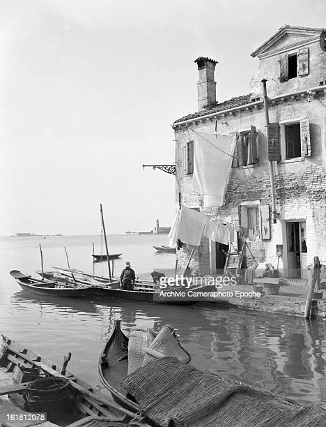 A general view of Burano Venice 1949