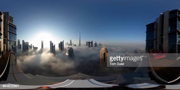 General view of Burj Khalifa during a heavy fog on September 27 2017 in Dubai United Arab Emirates