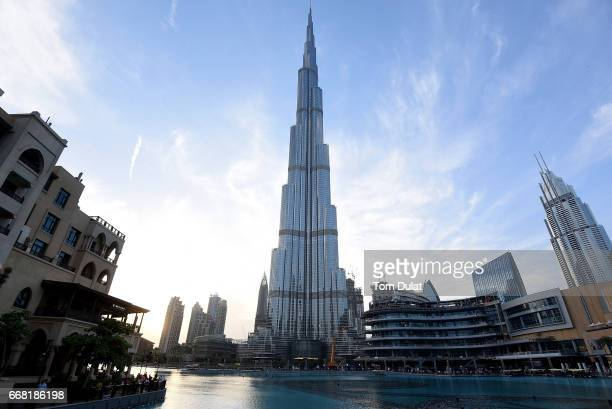 General view of Burj Khalifa on April 13 2017 in Dubai United Arab Emirates