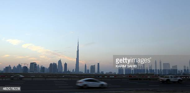 A general view of Burj Khalifa the world's tallest tower in Dubai on January 24 2015