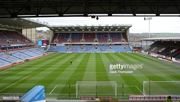 A general view of Burnley's Turf Moor stadium before the Sky Bet Championship match between Burnley and Middlesbrough at Turf Moor on April 12 2014...