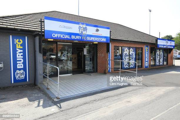 A general view of Bury FC Superstore at Gigg Lane