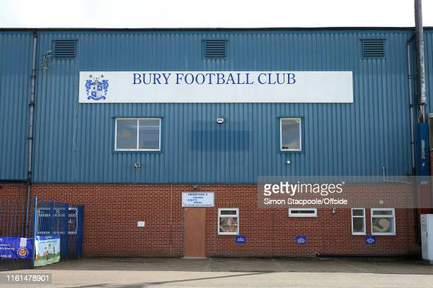 A general view of Bury Football Club's stadium at Gigg Lane on August 13 2019 in Bury England