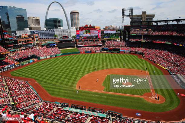 A general view of Busch Stadium during a game between the Philadelphia Phillies and the St Louis Cardinals on Sunday May 20 2018 in St Louis Missouri