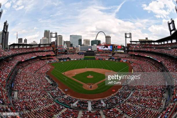 A general view of Busch Stadium during the eighth inning of a game between the St Louis Cardinals and the Chicago White Sox on May 2 2018 in St Louis...