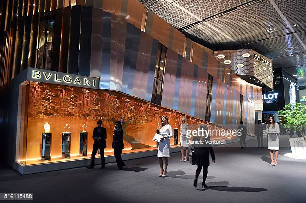 General view of Bvlgari Press Breakfast at Baselworld 2016 on March 17 2016 in Basel Switzerland